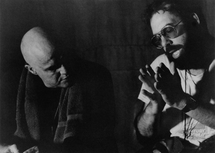 Marlon Brando & Coppola shooting 'Apocalypse Now' (1979)