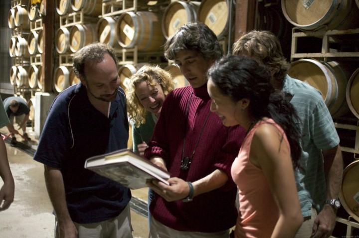 Paul Giamatti, Virginia Madsen, Payne, Thomas Haden Church, and Sandra Oh Making 'Sideways' (2004)