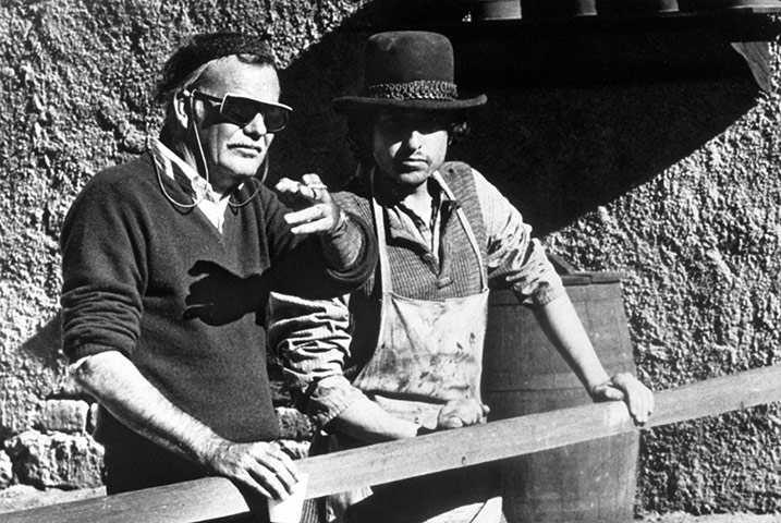 With Bob Dylan on the set of 'Pat Garrett and Billy The Kid' (1973)