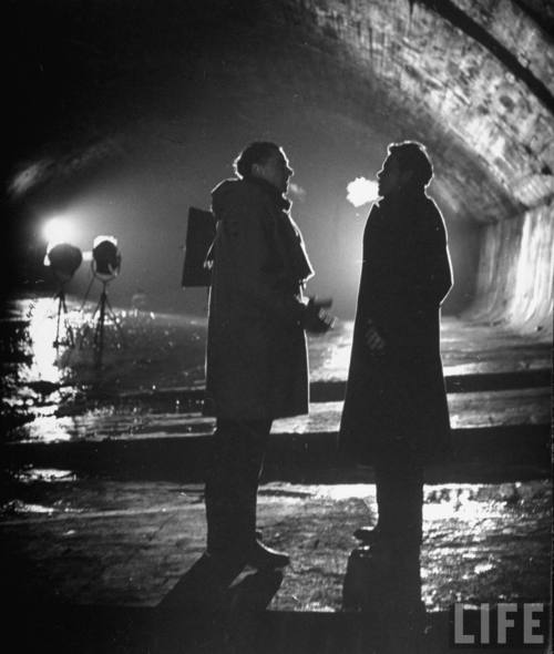 Carol Reed & Orson Welles Filming 'The Third Man' (1949)