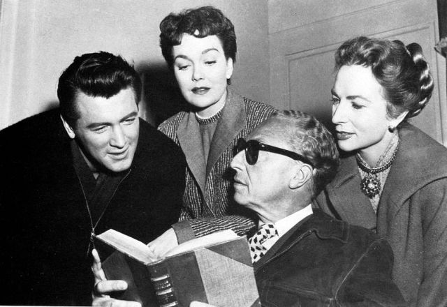 Rock Hudson, Jane Wyman, Sirk, and Agnes Moorehead During 'All That Heaven Allows' (1955)