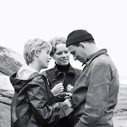 Liv Ullmann, Bibi Andersson, & Bergman making 'Persona' (1966)