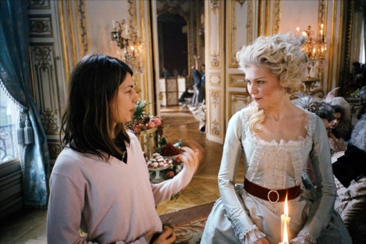 Coppola & Kirsten Dunst making 'Marie Antoinette' (2006)