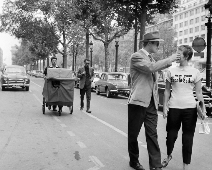 Godard and Raoul Coutard shooting Jean-Paul Belmondo and Jean Seberg 'Breathless' (1960)