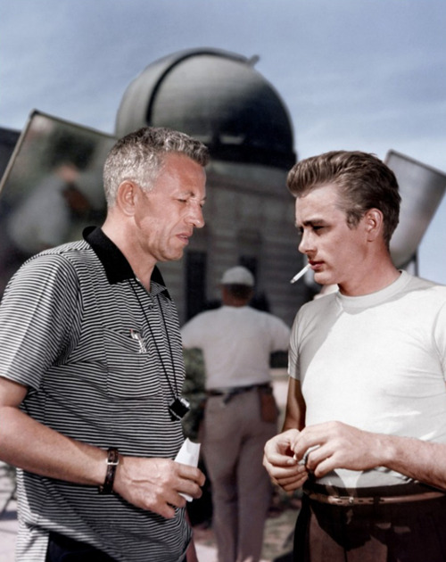 Ray with Dean at Griffith Observatory 'Rebel Without a Cause' (1955)