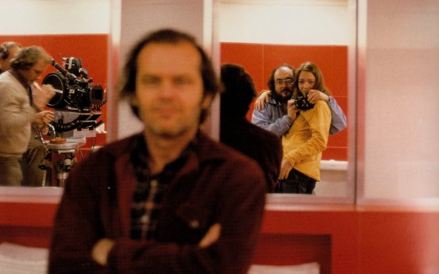 Stanley Kubrick and Daughter on the set of 'The Shining' (1980)