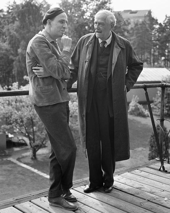 Ingmar Bergman & Victor Sjöström making 'Wild Strawberries' (1957)