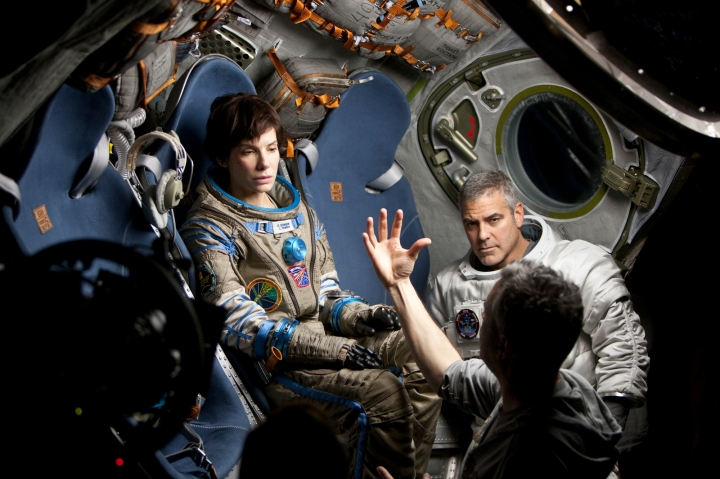 Directing Sandra Bullock & George Clooney in 'Gravity' (2013)