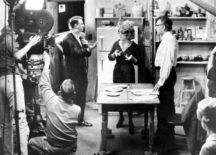 "Nichols With Elizabeth Taylor & Richard Burton Shooting ""Who's Afraid of Virginia Woolf?"" (1966)"