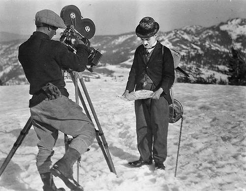 Roland Totheroh Films Charlie Chaplin On Location of 'The Gold Rush' (1925)