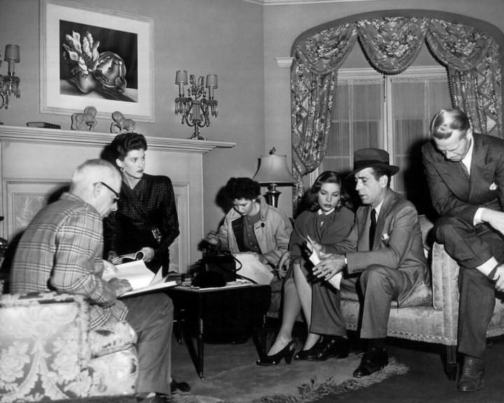 Howard & Slim Hawks, Leigh Brackett, Lauren Bacall and Humphrey Bogart 'The Big Sleep' (1946)