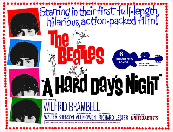 A Hard Day's Night - Poster