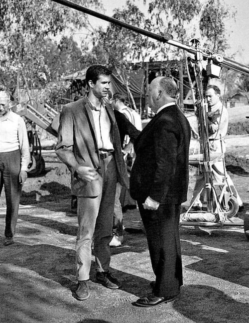 Anthony Perkins & Hitch on the set of 'Psycho' (1960)