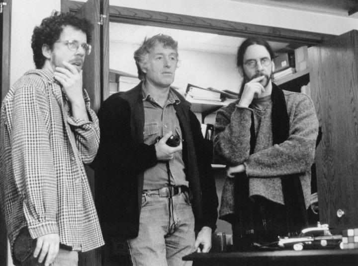 Ethan Coen, Roger Deakins and Joel Coen shooting 'Fargo' (1996)