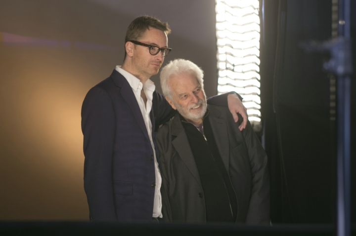 Nicolas Winding Refn & Alejandro Jodorowsky during the making of 'Jodorowsky's Dune' (2013)