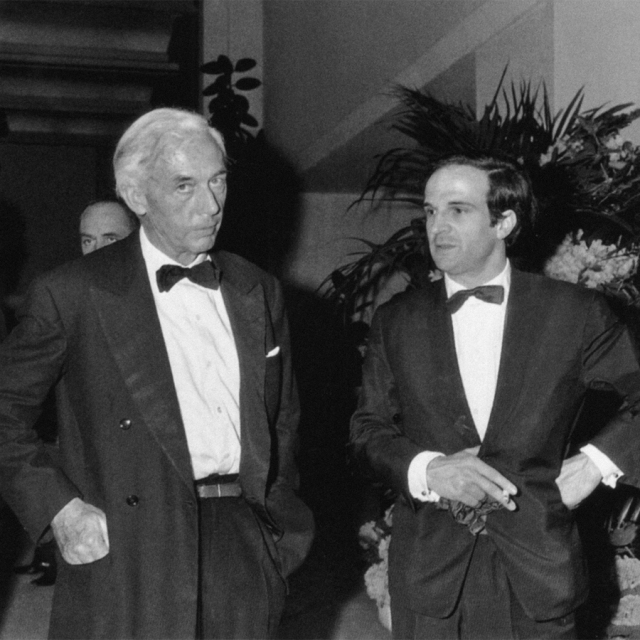 Robert Bresson & François Truffaut at Cannes 1967