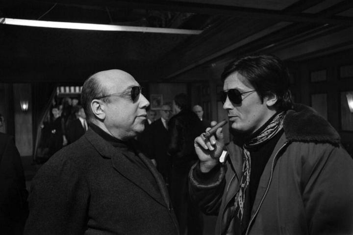 Jean-Pierre Melville & Alain Delon