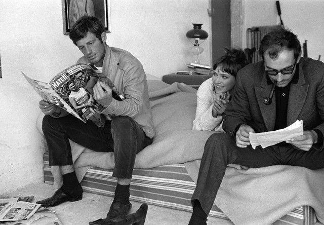 """Jean-Paul Belmondo & Godard """"Pierrot le Fou"""" (1965)"""