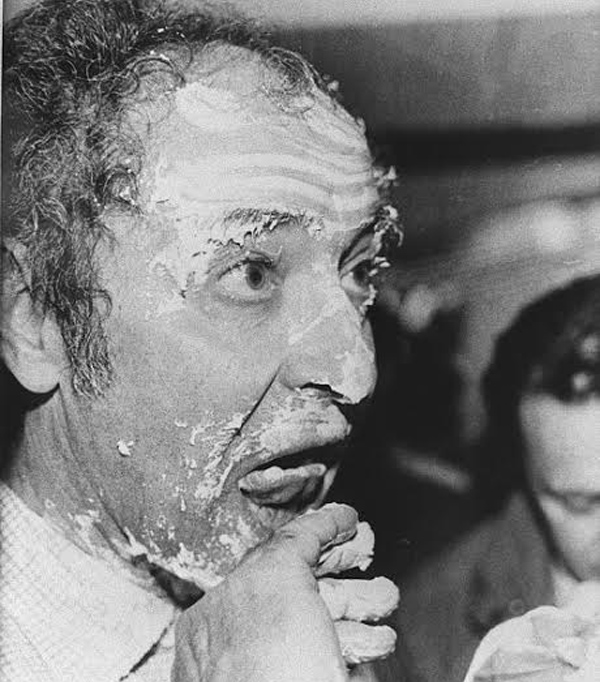 Godard Gets a Pie in the Face at Cannes, 1985