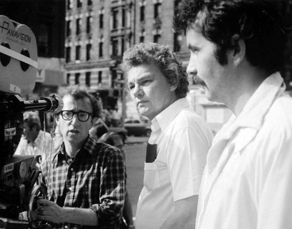"""Woody Allen & Gordon Willis shooting """"Annie Hall"""" (1977)"""