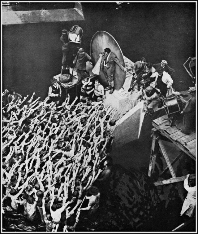 "Fritz Lang directs extras for ""Metropolis"" (1927)"