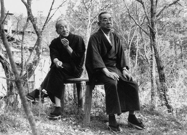 Yasujiro Ozu and writing partner, Kogo Noda