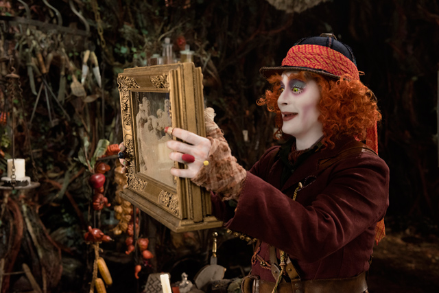 """Johnny Depp in """"Alice Through the Looking Glass"""" courtesy of Walt Disney Entertainment"""
