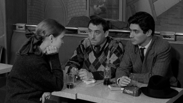 "Anna Karina, Claude Brasseur and Sami Frey in ""Band of Outsiders"" ©The Criterion Collection"