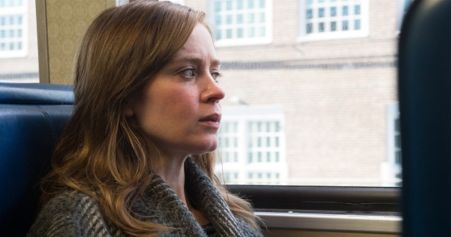Emily Blunt is THE GIRL ON THE TRAIN. Image courtesy of Universal Pictures