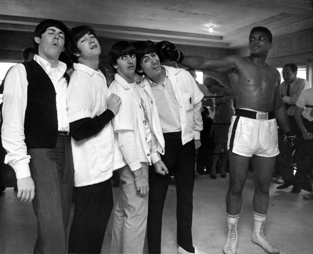 The Beatles and Muhammad Ali in HARRY BENSON: SHOOT FIRST, a Magnolia Pictures release. Photo courtesy of Magnolia Pictures. Photo Credit: © Harry Benson