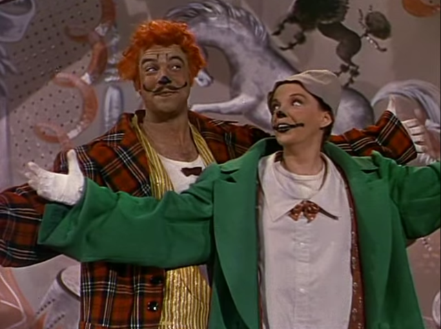 "Gene Kelly and Judy Garland perform ""Be a Clown"" in The Pirate"